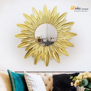 gương lá vàng