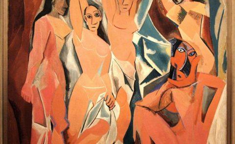 May co gai o Avignon Picasso