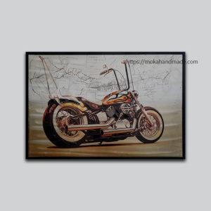 tranh ban thu cong harley motor