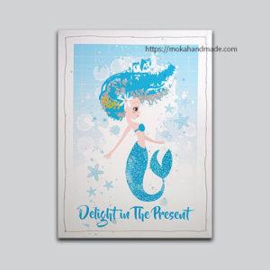 tranh in gan den led Mermaid 1 nang tien ca (1)