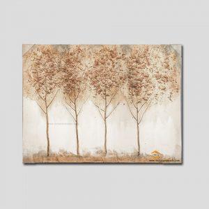 tranh noi son dau Four trees